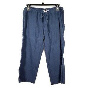 Hard Tail Forever Blue Drawstring Capri Pants